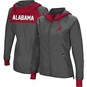 Colosseum Women's Alabama Crimson Tide Charcoal Backside Hooded Jacket
