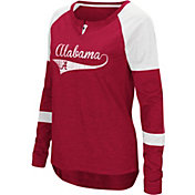 Colosseum Women's Alabama Crimson Tide Crimson Routine Raglan Long Sleeve T-Shirt