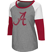 Colosseum Women's Alabama Crimson Tide Grey Raglan T-Shirt