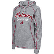 Colosseum Women's Alabama Crimson Tide Grey Crossneck Pullover Hoodie