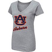 Colosseum Women's Auburn Tigers Grey Dual Blend V-Neck T-Shirt