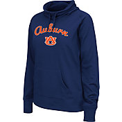 Colosseum Women's Auburn Tigers Blue Funnel Neck Fleece Pullover