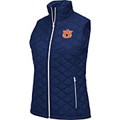 Colosseum Women's Auburn Tigers Blue Elite Quilted Full-Zip Vest