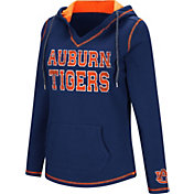 Colosseum Women's Auburn Tigers Blue Spike Fleece Hoodie