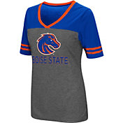 Colosseum Women's Boise State Broncos Grey McTwist Jersey T-Shirt