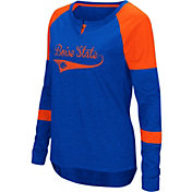 Colosseum Women's Boise State Broncos Blue Routine Raglan Long Sleeve T-Shirt