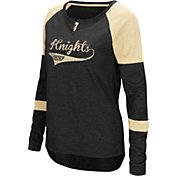 Colosseum Women's UCF Knights Black Routine Raglan Long Sleeve T-Shirt