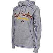 Colosseum Women's East Carolina Pirates Grey Crossneck Pullover Hoodie