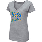 Colosseum Women's UCLA Bruins Grey Dual Blend V-Neck T-Shirt