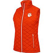 Colosseum Women's Clemson Tigers Orange Elite Quilted Full-Zip Vest