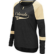 Colosseum Women's Colorado Buffaloes Black Routine Raglan Long Sleeve T-Shirt