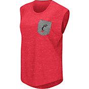 Colosseum Athletics Women's Cincinnati Bearcats Red Pocket Tank Top