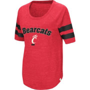 Colosseum Women's Cincinnati Bearcats Red Bean Babbitt Raglan T-Shirt