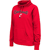Colosseum Women's Cincinnati Bearcats Red Funnel Neck Fleece Pullover