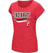 Colosseum Athletics Women's Cincinnati Bearcats Red Speckled Yarn T-Shirt