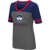 Colosseum Women's Connecticut Huskies Grey McTwist Jersey T-Shirt