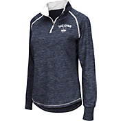 Colosseum Women's UConn Huskies Blue Bikram Quarter-Zip Top