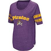 Colosseum Women's East Carolina Pirates Purple Bean Babbitt Raglan T-Shirt