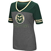 Colosseum Women's Colorado State Rams Grey McTwist Jersey T-Shirt