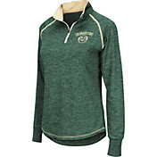 Colosseum Women's Colorado State Rams Green Bikram Quarter-Zip Top