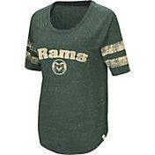 Colosseum Women's Colorado State Rams Green Bean Babbitt Raglan T-Shirt