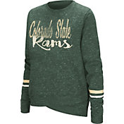 Colosseum Women's Colorado State Rams Green Birdie Fleece Pullover