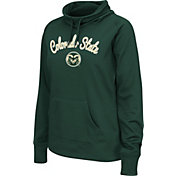 Colosseum Women's Colorado State Rams Green Funnel Neck Fleece Pullover