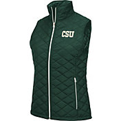 Colosseum Women's Colorado State Rams Green Elite Quilted Full-Zip Vest