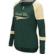 Colosseum Women's Colorado State Rams Green Routine Raglan Long Sleeve T-Shirt