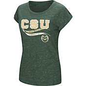 Colosseum Athletics Women's Colorado State Rams Green Speckled Yarn T-Shirt