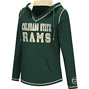 Colosseum Women's Colorado State Rams Green Spike Fleece Hoodie