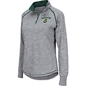 Colosseum Women's Colorado State Rams Grey Bikram Quarter-Zip Top