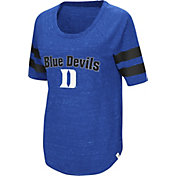 Colosseum Women's Duke Blue Devils Duke Blue Bean Babbitt Raglan T-Shirt
