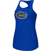 Colosseum Women's Florida Gators Blue Mesh Tank