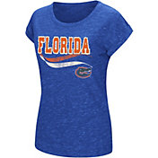 Colosseum Athletics Women's Florida Gators Blue Speckled Yarn T-Shirt
