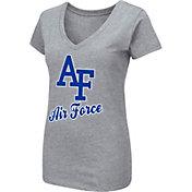 Colosseum Women's Air Force Falcons Grey Dual Blend V-Neck T-Shirt