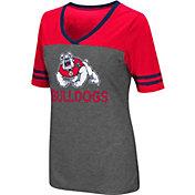 Colosseum Women's Fresno State Bulldogs Grey McTwist Jersey T-Shirt