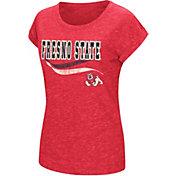Colosseum Athletics Women's Fresno State Bulldogs Cardinal Speckled Yarn T-Shirt