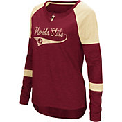 Colosseum Women's Florida State Seminoles Garnet Routine Raglan Long Sleeve T-Shirt