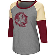 Colosseum Women's Florida State Seminoles Grey Raglan T-Shirt