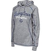 Colosseum Women's Georgetown Hoyas Grey Crossneck Pullover Hoodie