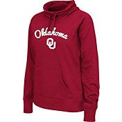 Colosseum Women's Oklahoma Sooners Crimson Funnel Neck Fleece Pullover