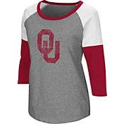 Colosseum Women's Oklahoma Sooners Grey Raglan T-Shirt