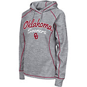 Colosseum Women's Oklahoma Sooners Grey Crossneck Pullover Hoodie