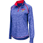 Colosseum Women's Kansas Jayhawks Blue Bikram Quarter-Zip Top