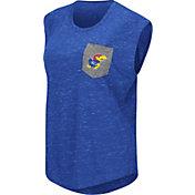 Colosseum Athletics Women's Kansas Jayhawks  Blue Pocket Tank Top