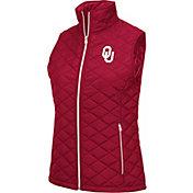Colosseum Women's Oklahoma Sooners Crimson Elite Quilted Full-Zip Vest
