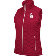 Colosseum Women's Oklahoma Sooners Crimson Elite Quilted Full-Zip Vest