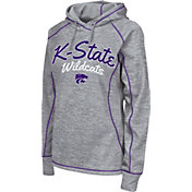 Colosseum Women's Kansas State Wildcats Grey Crossneck Pullover Hoodie
