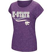 Colosseum Athletics Women's Kansas State Wildcats Purple Speckled Yarn T-Shirt